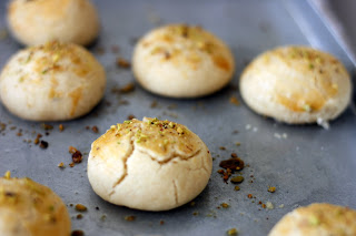 Naan Khatai – a traditional cookie flavored with cardamom and pistachios