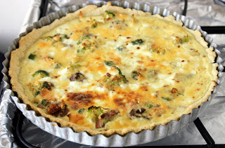 Quiche re-visited, this time with sour cream