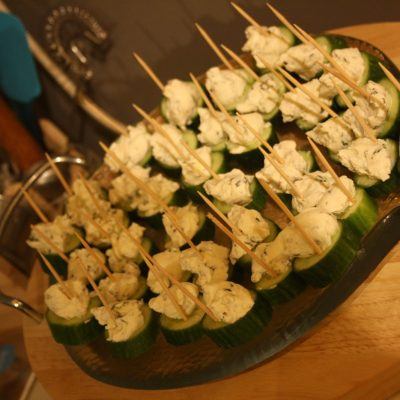 Appetizers – Cucumber n Cream