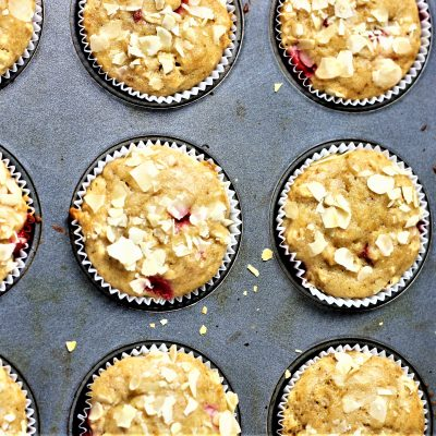 Healthy Strawberry Recipe – Whole wheat Oats Muffins