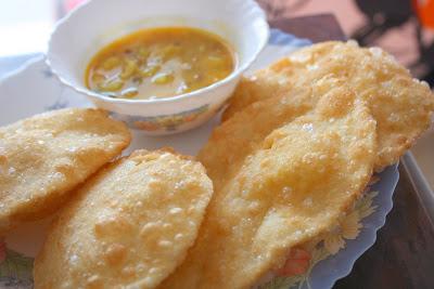homemade ramadan special kachori tarkari