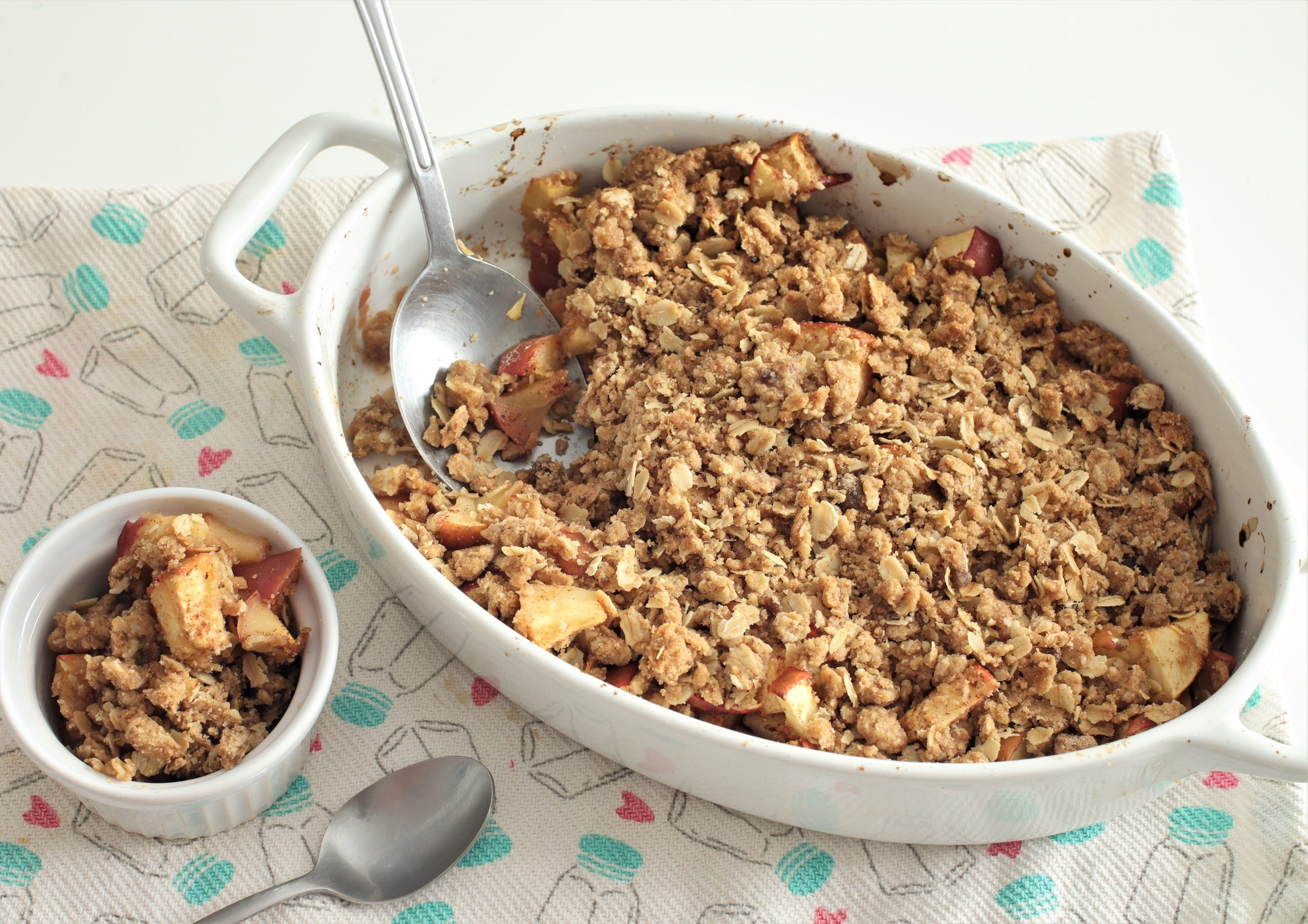 easy apple crisp with oats