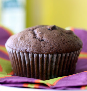 homemade chocolate cupcake