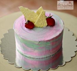 homemade strawberry gourmet cake