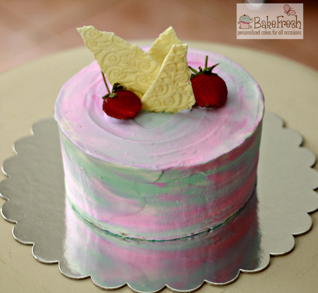 homemade strawberry gourmet cake