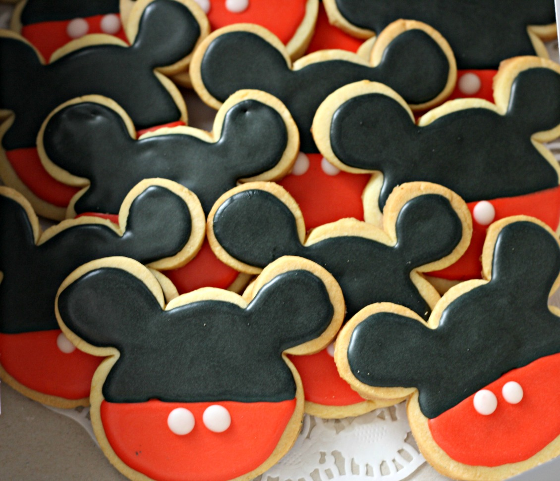 mickey mouse themed homemade cookies