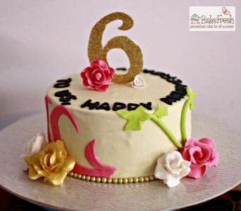 customize 6th anniversary cake