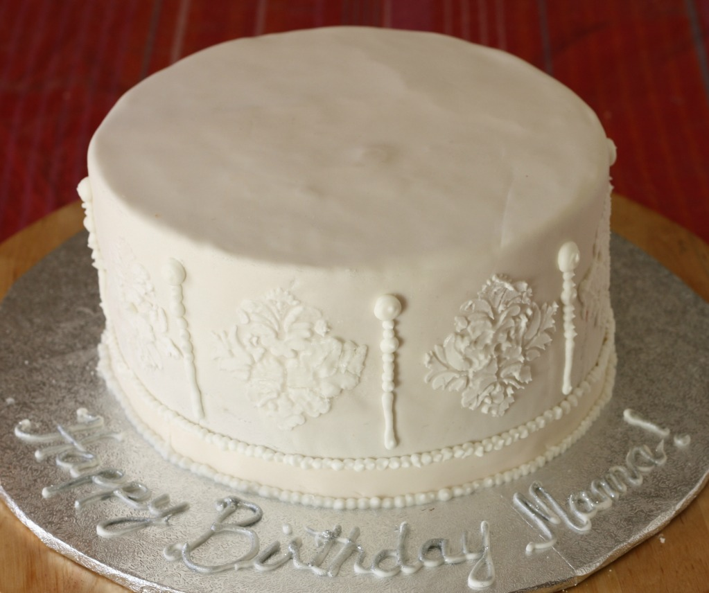 customize homemade white birthday cake