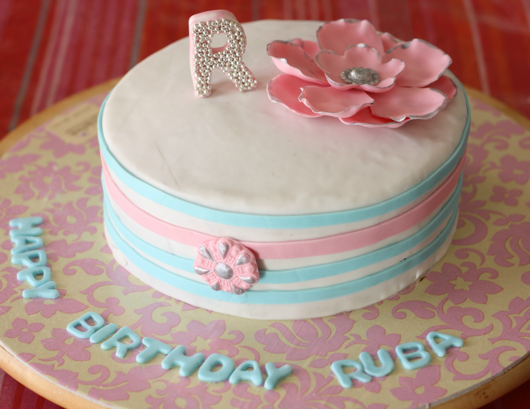 customized birthday cake for ruba