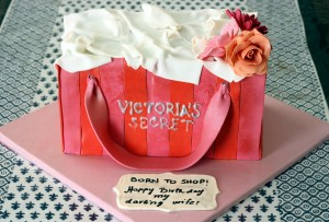 personalized birthday cake victorias secret paper bag design