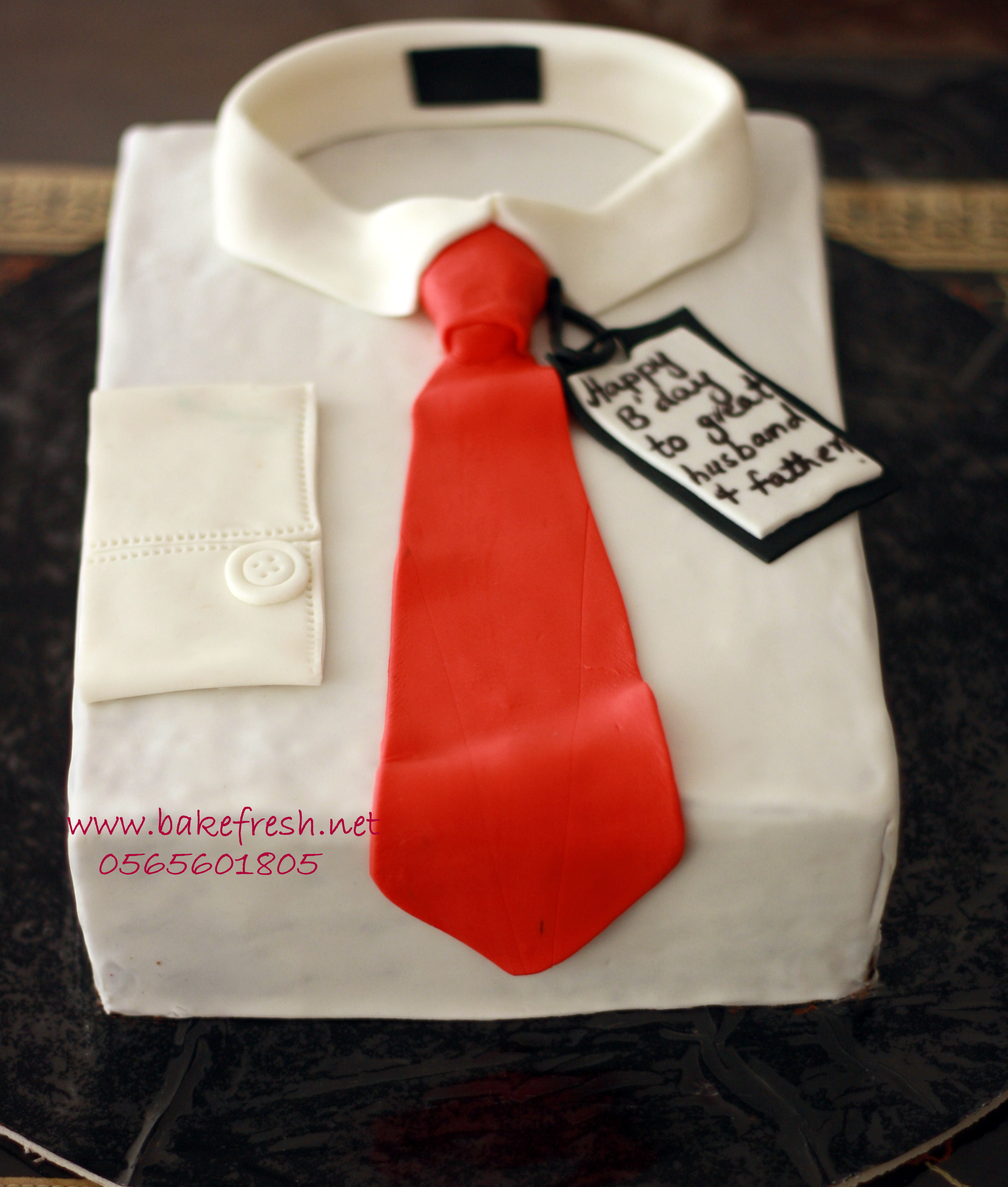 personalized birthday celebration cake polo and tie design