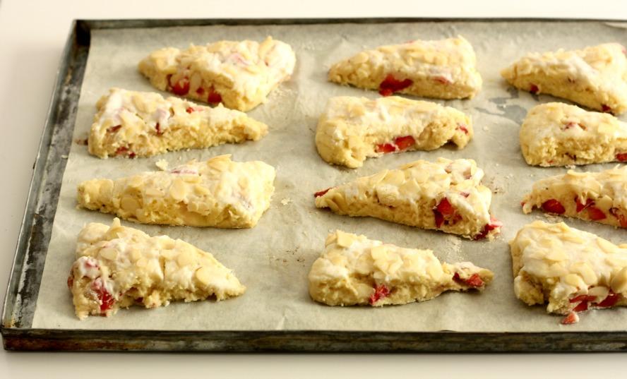 Fresh Strawberry buttermilk scones