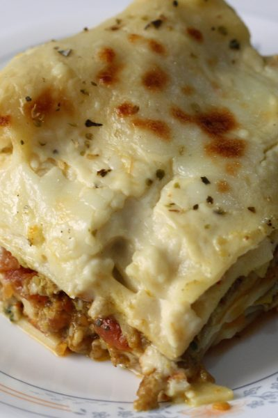 Lasagne with Three Sauces